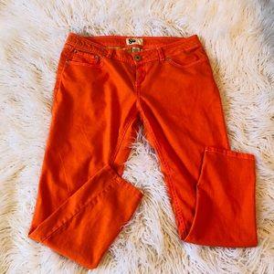 Orange stretch jeans by SO Sz 15
